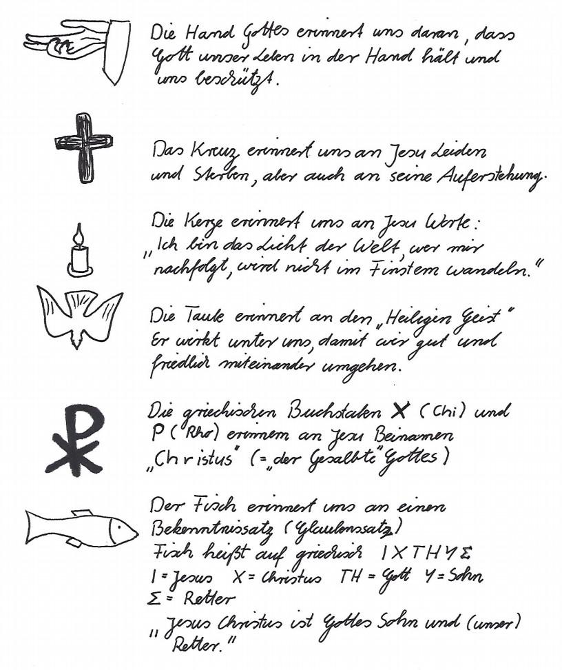 Christliche Zeichen Und Ihre Bedeutung